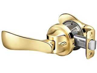 Yale P5101301 Navis Paddle lever  Hands free opening Push with your hip  Passage  Polished Brass