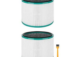 Colorfullife 2 Pack Replacement HEPA Filter for Dyson HP01  HP02  DP01  DP02 Desk Purifiers  Compare to Part   968125 03 for Dyson Pure Cool link Fans