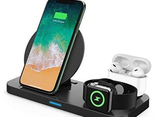 Wireless Charger  3 in 1 Qi Certified Wireless Charging Station for AirPods Apple Watch Series 5 4 3 2 1  Fast Wireless Charging Stand for iPhone 11 11 Pro 11 Pro Max XS Max XR X Samsung