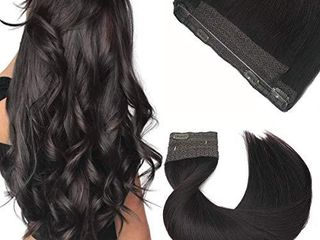 Halo Hair Extensions  Straight Hidden Wire Hair Extensions  Dark Brown Secret Hair Extension  Fish line Flip in Human Hair Extensions  12 inch  hotbanana