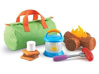 learning Resources New Sprouts Camp Out  Imaginative Play  Camping Toy  Outdoor Toys  11 Pieces  Easter Gifts for Kids  Ages 2