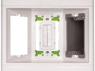 Pass   Seymour TV3lVKITWCC2 Recessed Television Box Three Gang low Voltage Kit Easy Installation