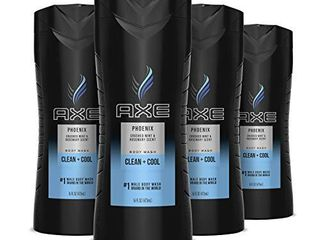 AXE Men s Body Wash for a Clean and Cool Feel Phoenix Dermatologist Tested Body Wash for Men 16 oz 4 Count