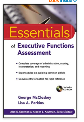 Essentials Of Executive Functions Assessment Book