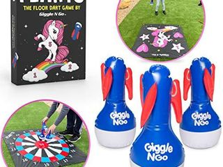 GIGGlE N GO Flarts Unicorn lawn Darts Outdoor Games for Family Our lawn Games for Kids   Quality Backyard Games for Adults and Kids   Our Inflatable Dart Games are Safe Indoor Outdoor Games for Kids