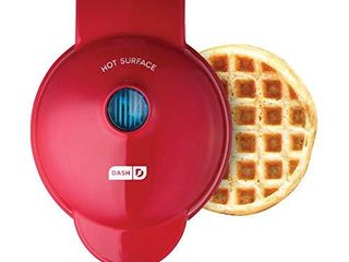 Dash DMW001RD Machine for Individual  Paninis  Hash Browns    other Mini waffle maker  4 inch  Red