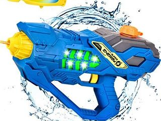 Balnore Water Gun  Electric Squirt Gun for Kids with a Water Fight Glasses long Range 32FT Summer Pool Toys for Kids