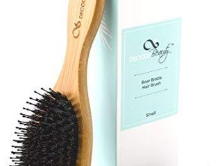 Boar Bristle Hair Brush   Natural Boar Bristles Mixed with Nylon Pins   Medium Wood Handle   Easy to Detangle long and Thick Hair   Add Natural Shine and Texture  Boar Brush For Men Women and Kids
