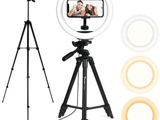 Endurax Selfie Ring light with Tripod and Phone Holder for iPhone Android  Circle light Ring Stand for Make Up Tiktok live Streaming
