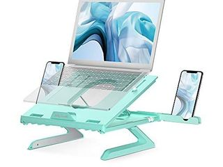 laptop Stand with Built in Foldable legs and Phone Holder  Jelly Comb 9 Adjustable Height laptop Riser  Air Ventilated laptop Holder for Notebook  laptop  Tablet