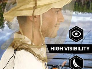 Mosquito Head Net Mesh   Bug Face Netting for Hats   Insect Net Mask Cover from Gnats  No See Ums   Midges with Extra Fine Fly Screen Holes   Outdoor Protection   Shield for Men   Women  Chemical Free