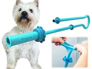 Rinseroo  Slip on Dog Wash Hose Attachment  Pet Bather for Showerhead and Sink  Handheld Shower Sprayer Washer  Fits Most Faucets  Universal 5 Foot Flex Hose  Not for Use On Tub Faucet   1 Pack