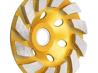 SUNJOYCO 4  Concrete Grinding Wheel  12 Segment Heavy Duty Turbo Row Diamond Cup Grinding Wheel Angle Grinder Disc for Granite Stone Marble Masonry Concrete