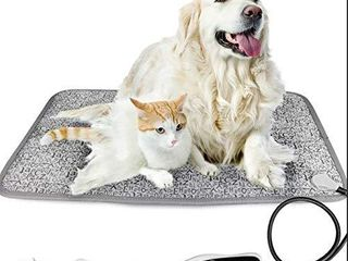 Achort Pet Heating Pad for Cats Dogs large Waterproof Electric Heating Mat Indoor 5 levels Adjustable Warming Mat Pets Heated Bed with Timing Function  Chew Resistant Cable 19x29 inch