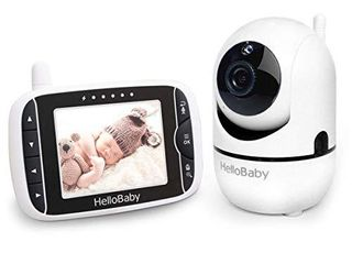 Baby Monitor with Remote Pan Tilt Zoom Camera and 3 2  lCD Screen  Infrared Night Vision  Black