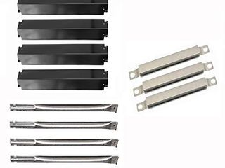 Hongso Grill Replacement Part for 4 Burner Charbroil Commercial Series 463268107 463248208 466248208  G501 0008 W1  80013421  G515 0044 W1 Heat Plate  Burners  Crossover Tubes  SBE5914 PPC3214 SBE5933