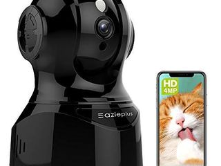 4MP UltraHD Indoor WiFi Camera  Security IP Camera with Pan Tilt  Two Way Audio  Night Vision  Remote Viewing Motion Detection  4 Megapixel  20FPS  Wide 120A FOV  Works with Alexa Black