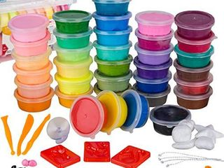 WIZOPlAY PolyClay Air Dry Clay Kit  36 Colors Modeling Clay for Kids  Sculpting Clay Tools  Accessories  Case and Molding Clay Book  Safe  Soft Polymer Clay  STEM Toys Art Supplies  Model Craft Kits