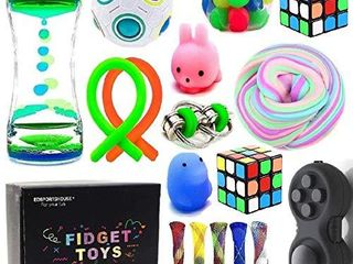 Sensory Fidget Toys Bundle DNA Stress Relief Balls with Fidget Hand Toys for Anxiety Kids   Adults Calming Toys for ADHD Autism Anxiety