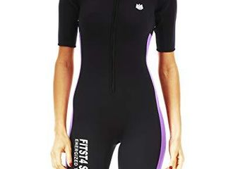 FitsT4 Women s Full Body Sauna Suit Waist Trainer Hot Neoprene Shapewear Sweat Bodysuit with Zipper for Weight loss