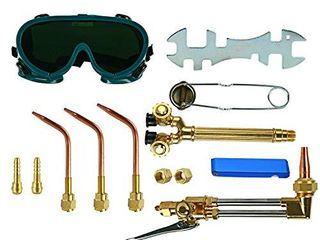 YaeTek 12PCS Oxygen   Acetylene Torch Kit Welding   Cutting Gas Welder Tool Set with Welding Goggles