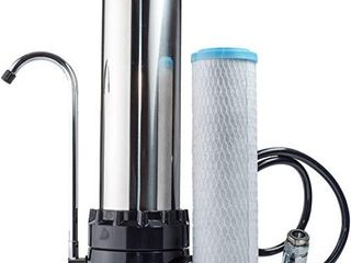 The Stainless Steel Countertop Water Purifier Filter  KDF Cartridge
