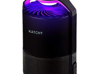 KATCHY Indoor Insect and Flying Bugs Trap Fruit Fly Gnat Mosquito Killer with UV light Fan Sticky Glue Boards No Zapper Black