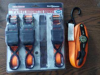 Ratchet Tie Downs   1  x 15 ft  Ratchet Tie Downs  4 Pack