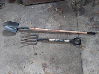 Potato Fork and Shovel with Fiberglass Handles