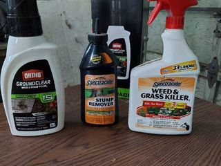 Weed Killer and Stump Remover   Approximately Half Full