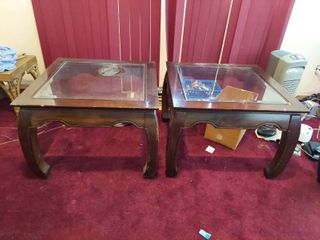 2 Asian Style End Table