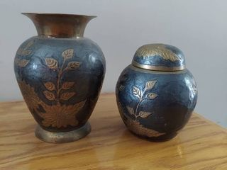 Brass Vase and Urn