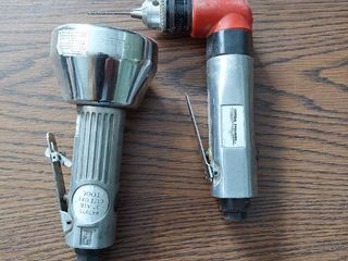 Central Pneumatic 3  Air Cutoff Tool and 3 8  Air Angle Drill