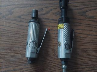 Central Pneumatic Die Grinder and 1 4  Air Ratchet