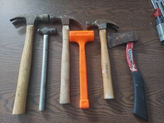 Assorted Hammers  Dead Blow and Hatchet