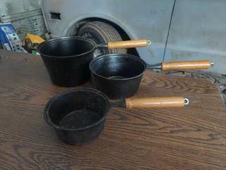 3  Cast Iron Pans