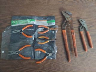 Assorted Pliers   Precision and Water Pump Pliers