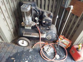 Coleman Powermate Air Compressor   Runs  has Exposed Wiring