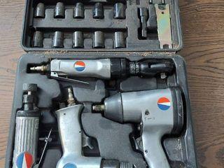 4 Pc DeVilbiss Air Tool Set