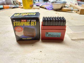 Pittsburgh 1 8  Steel Stamping Set 36pc