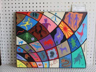 Moxie Grid   Acrylic on Canvas   Warren Homer Chambers   No Frame   16  x 20