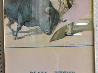 Plaza Mexico Framed Concert Poster   Print   Metal Frame   20 25  x 36 25
