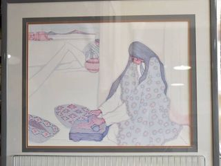 El Metate   Offset lithography   Pena   Gray Wood Frame   27 5  x 33 5