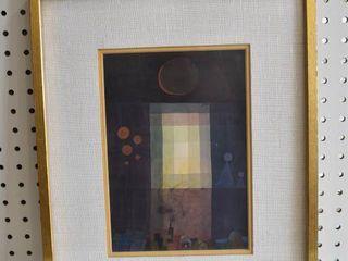 Window   Watercolor   Vintage Wood Frame   13 5  x 16 5