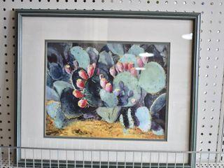 Prickly Pear   Print   lois l  McDonald   Frame Shop Frame   20  x 17