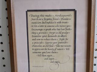 life lessons   Calligraphy Motto   Jettie York   Vintage Wood Frame   9 25  x 11 25