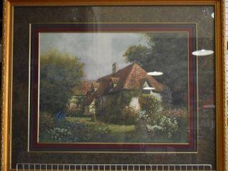 Garden   Artist Print   Dwayne Warwick   Gold Tone Wood Frame   29  x 35