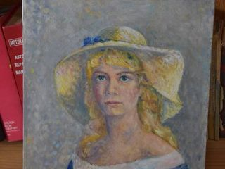 Woman in Hat   Acrylic on Canvas   Rama Webb   No Frame   16  x 20