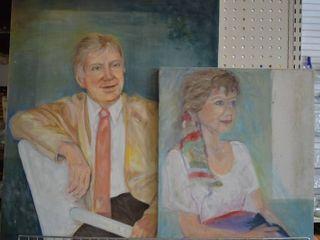 Pair of Portraits   Acrylic on Canvas   No Frame   16  x 20  22  x 28