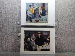 lot of 2 Daily life   Art Prints   8 5  x 7 75  9 25  x 12 25